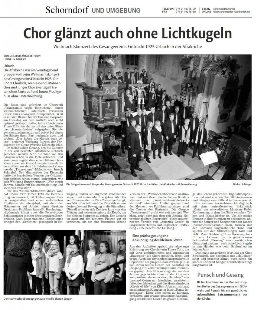Chor-Bericht
