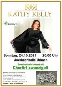 Kathy Kelly mit ChorArt zwanzigelf Konzert Urbach 24.10.2021